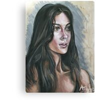Oil portrait study Canvas Print