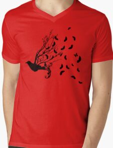 Fly Free Mens V-Neck T-Shirt