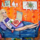 """Couch Potato Doll"" by Adela Camille Sutton"