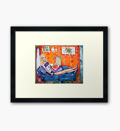 """Couch Potato Doll"" Framed Print"