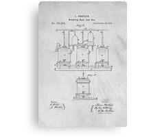 Beer Fermentation Original Patent Canvas Print