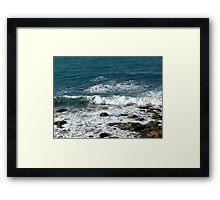 Tide coming in at Blackhead Beach N.S.W. Australia. Framed Print