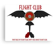Flight Club - Motto Canvas Print