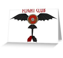 Flight Club - Motto Greeting Card
