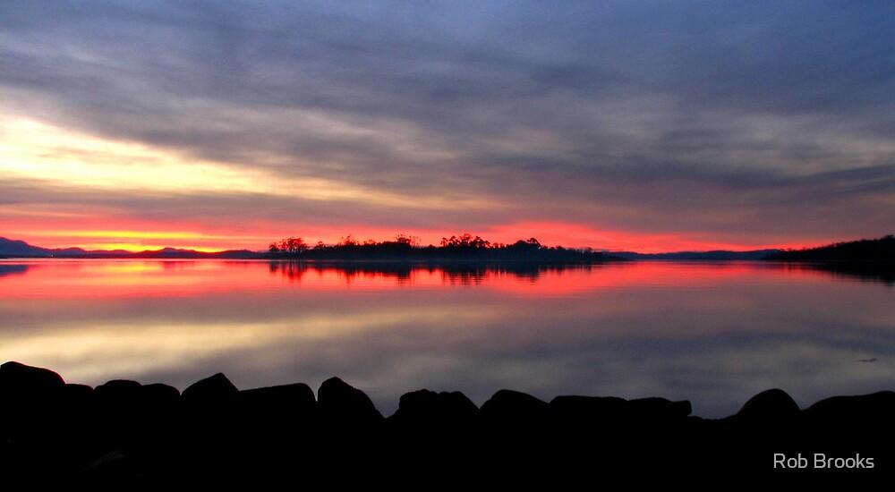 Dart Island Sunset by Rob Brooks