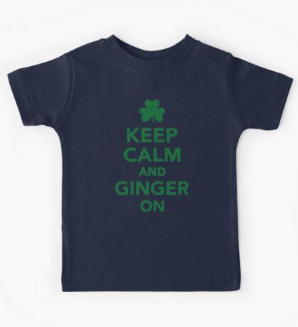 Keep calm and ginger on Kids Tee