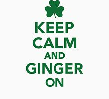 Keep calm and ginger on Womens Fitted T-Shirt