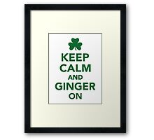 Keep calm and ginger on Framed Print