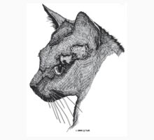 Cat Face T by Laura Jean Taft