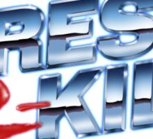 Dress-2-Kill Logo with Lazers  Sticker