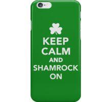 Keep calm and shamrock on iPhone Case/Skin