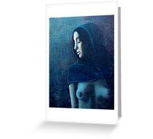 Blue Shawl Greeting Card