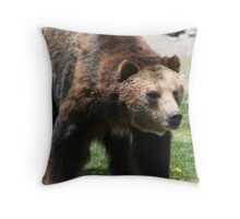A Grizzley Bear Market Throw Pillow