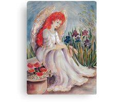 Angel Praying Canvas Print