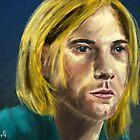 An Artistic Painting of Kurt Cobain from Nirvana by ibadishi