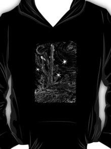 Moon lite desert night T-Shirt