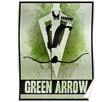 Green Arrow Splash Poster