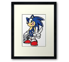 Sonic with turbo Framed Print