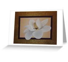 Cream Magnolia Greeting Card