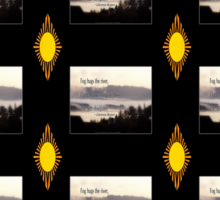 foggy sunrise, Columbia River, Oregon, Haiku black sun 	 Sticker