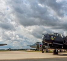 Two Lancasters and a Vulcan meet at RAF Waddington Sticker