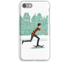Euro street skater in gouache iPhone Case/Skin