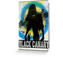 Black Canary Splash Greeting Card