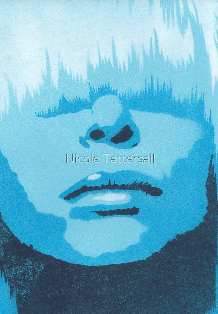 Face & Fringe Blue by Nicole Tattersall