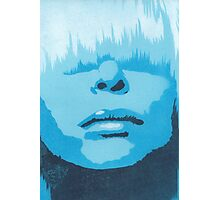 Face & Fringe Blue Photographic Print