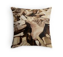 Garden Mulch Macro Throw Pillow