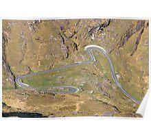 Gap of Dunloe aerial view Poster