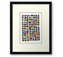 The Pattern in Colour Framed Print