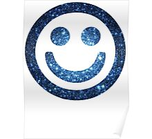Blue Cluster Galaxy | Galactic Smileys Poster