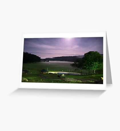 Misty Night Greeting Card