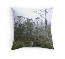 misty bushland Throw Pillow