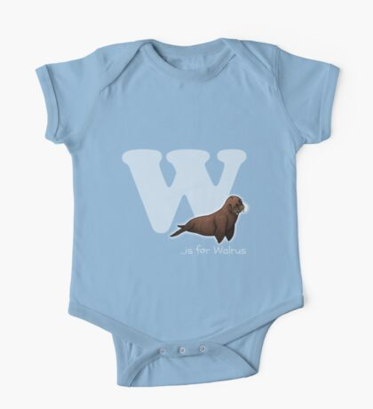 W is for Walrus One Piece - Short Sleeve