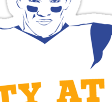 Thad Castle Blue Mountain State Sticker