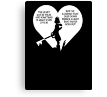 Kingdom hearts sora quote Canvas Print