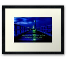 """Thy Word"" Framed Print"
