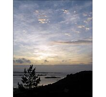 Sunset over Guernsey Two Photographic Print