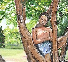 Boy in Tree by pattirom