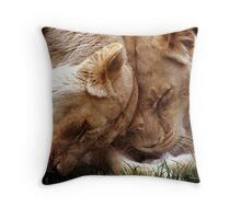 Loving Lions Throw Pillow