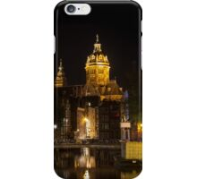 Amsterdam night: Church of Saint Nicholas iPhone Case/Skin