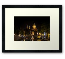 Amsterdam night: Church of Saint Nicholas Framed Print