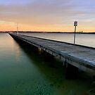 Como Beach Jetty by Geoff White