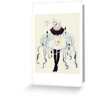 jellyfish dress Greeting Card