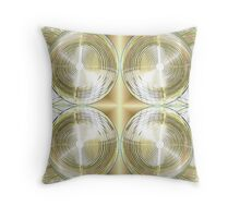 Golden Rings Throw Pillow