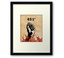 Fahrenheit 451 - Ray Bradbury Framed Print