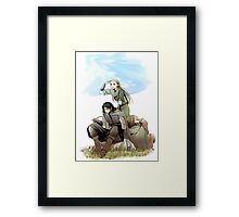 Legolas what do your elf eyes see Framed Print