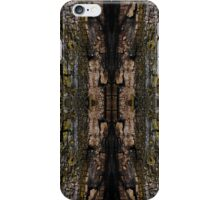Mossy wood bark pattern iPhone Case/Skin